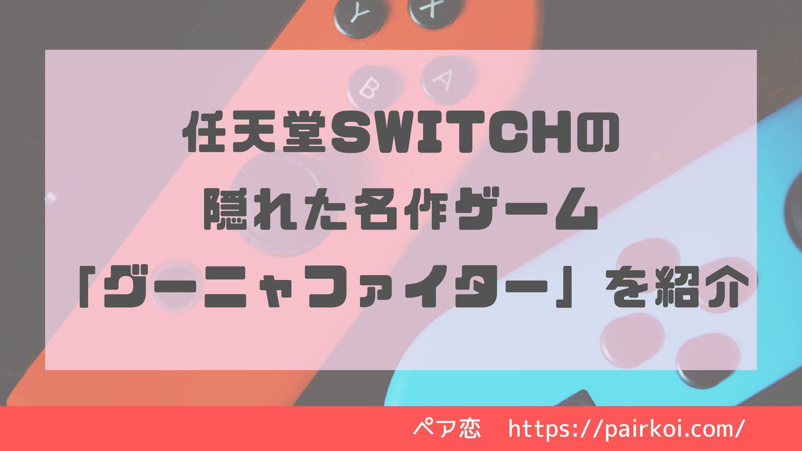任天堂Switchの隠れた名作ゲーム「グーニャファイター」を紹介